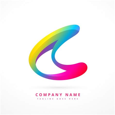colorful logos colorful logo in abstract style vector free