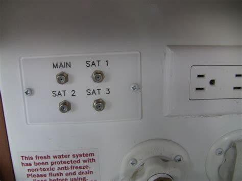 rv satellite  cable tv connections  wheel