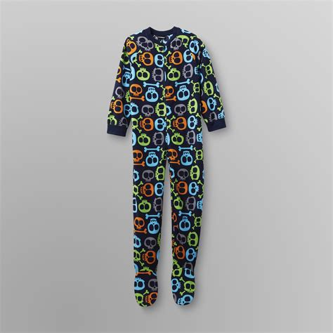 joe boxer boy s footed sleeper pajamas flames
