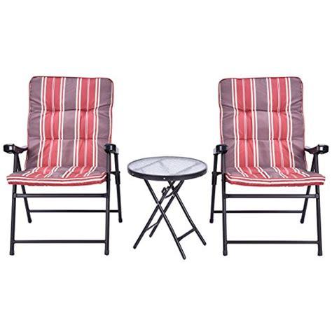 giantex patio 3 pcs outdoor folding chairs table set