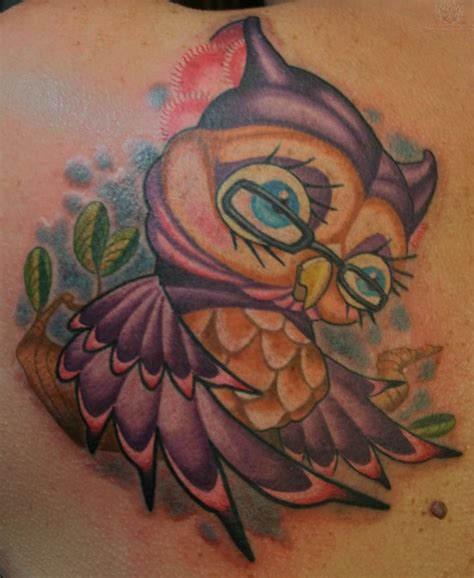 cartoon owl tattoo owl tattoos age owl tatoos so