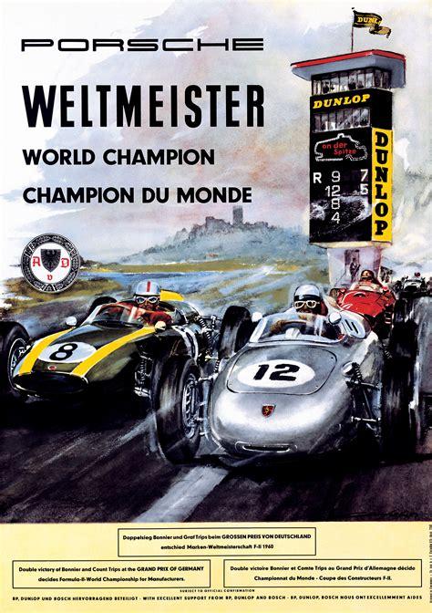 porsche poster porsche racing posters and max huber modular 4
