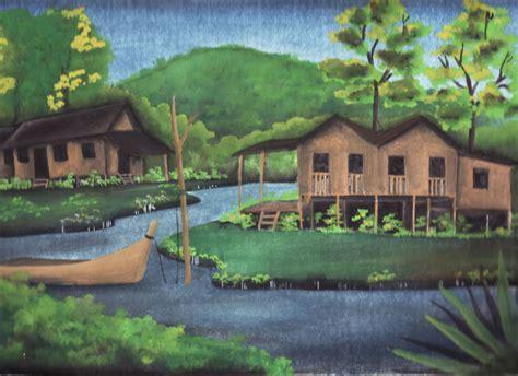 pin lukisan pemandangan di desa i2 pelautscom on