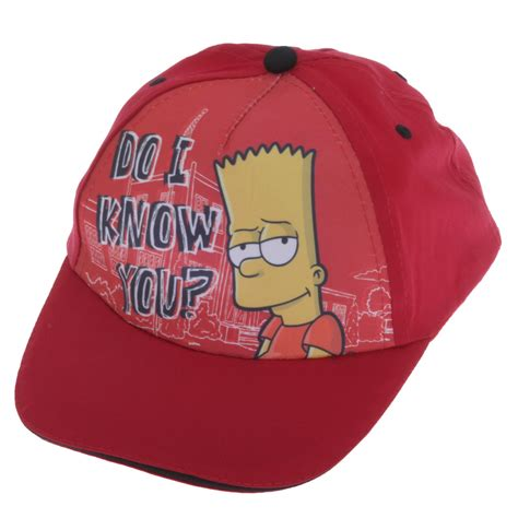Simpsons Newest Must Accessory Baseball Caps by Childrens Boys Bart Adjustable Baseball Cap 2