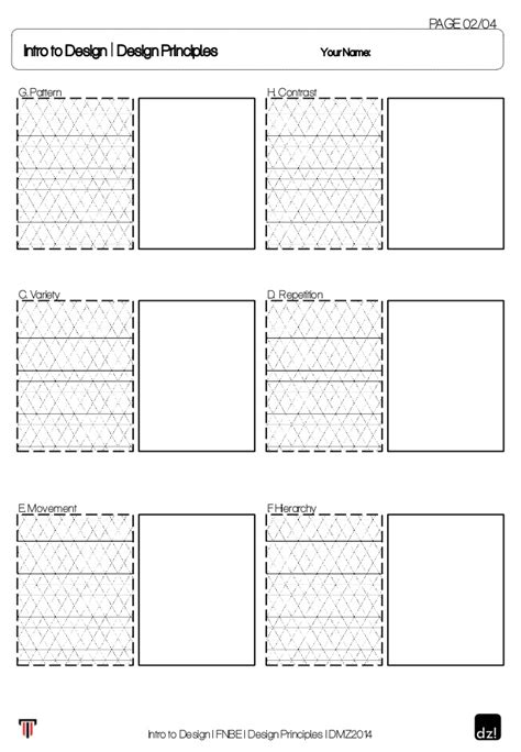 layout worksheet worksheet for design principles