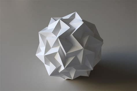 How To Make An Origami Sphere - dodecahedron paradigma origami paper folding and kirigami