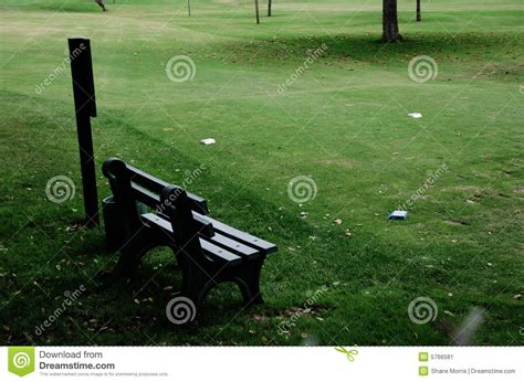golf bench golf bench and tee stock image image 5766581