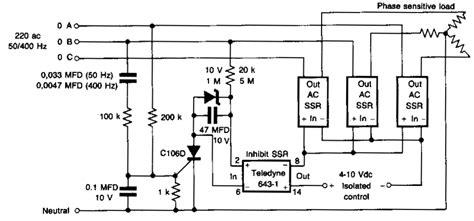 phase detector circuit diagram phase sensors and detectors circuits electronics