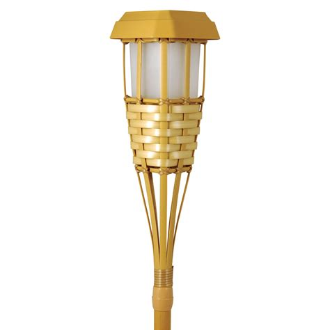 Moonrays Solar Powered Tiki Torch Path Light Solar Outdoor Tiki Lights