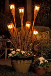 tiki solar lights solar light planter