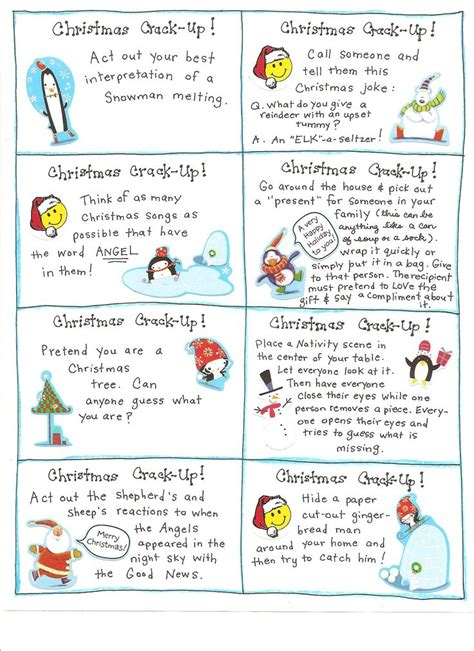 printable christmas joke cards 7 best christmas conversation starters images on pinterest