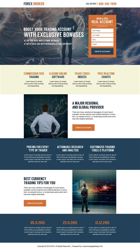 professional forex trading best and effective landing pages