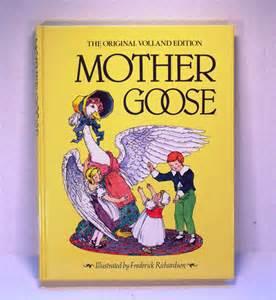 Mother Goose Nursery Rhyme Books by Vintage Childrens Book Mother Goose Nursery Rhymes