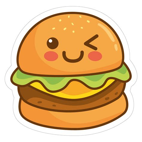 imagenes de hamburguesas kawaii hamburger 02 vinyl custom sticker at great prices