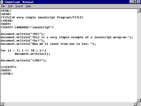 javascript program layout special edition using html 2nd edition chapter 26 java
