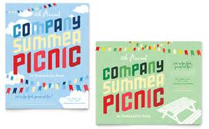 word poster templates company summer picnic poster template word publisher