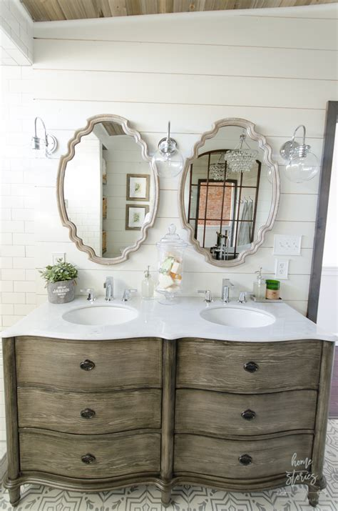 master bathroom mirrors beautiful farmhouse master bathroom remodel