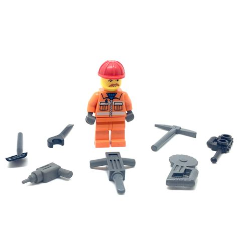 Lego Worker Cap Lego Accessories lego minifigure minifig construction worker with accessories city cheap new ebay
