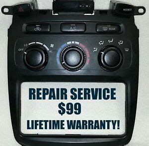 2001 2007 toyota highlander manual heater and a c climate control repair service ebay