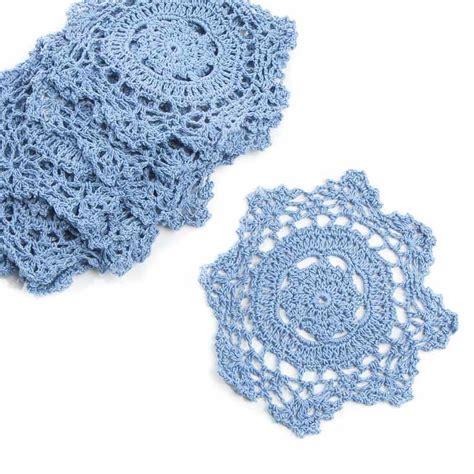 Blue Gypsea Crochet 1 denim blue crocheted doilies crochet and lace doilies home decor