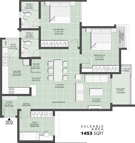 The Petals Floor Plan | the petals floor plan durga projects and infrastructure
