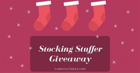Giveaway Scout - cub scout stocking stuffer giveaway cub scout ideas