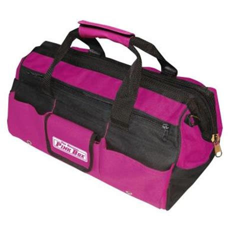 Home Depot Tool Bags by The Original Pink Box 16 In Tool Bag In Pink Pb16tb The