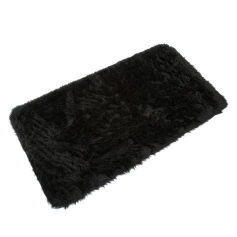 big black fluffy rugs b m gt fluffy rug 70 x 130cm black 2530592