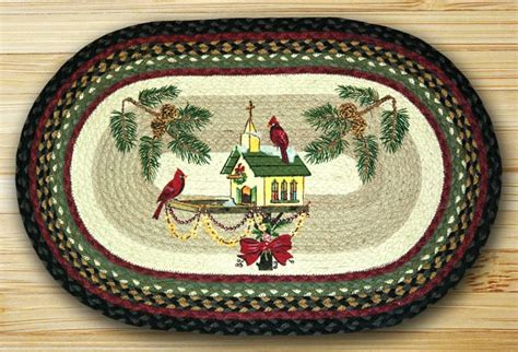 Non Slip Rugs by Earth Rugs Christmas Birdhouse