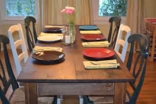 Chairs For Farmhouse Table by White Narrow Farmhouse Table Diy Projects