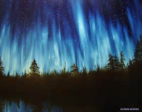 acrylic painting northern lights pin by pat burnstad on
