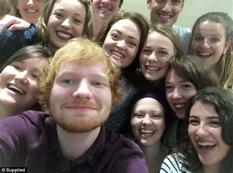 ed sheeran fan ed sheeran fan diagnosed with cancer has hospital