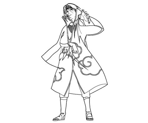 free coloring pages of uchiha para colorear