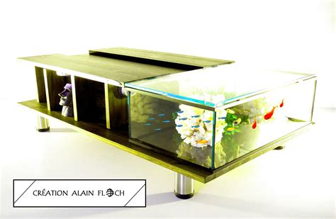 Table Aquarium Design by Table Basse Aquarium Design 38 Autospanh