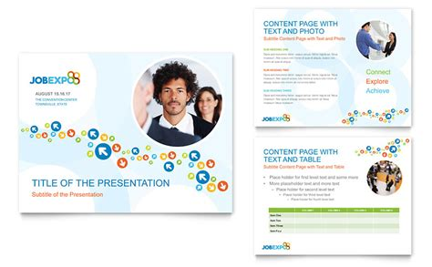 Job Expo Career Fair Powerpoint Presentation Powerpoint Template Powerpoint Microsoft Templates
