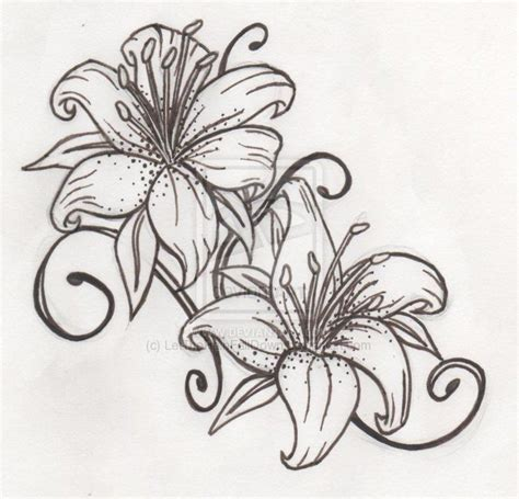 tiger lily tattoo tiger tattoos on lilies