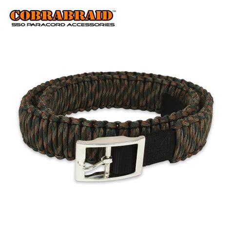 bd wc cobrabraid 550lb paracord belt woodland camo kennesaw