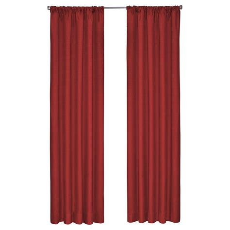 blackout curtains 63 length eclipse kendall blackout chili curtain panel 63 in