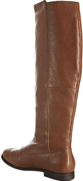 steven by steve madden cognac leather greyson flat boots