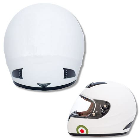 helmet design white carnaby designs mod scooterist plain full face scooter