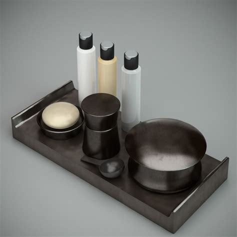 black bathroom accessories sets 3d model 3ds max autodesk