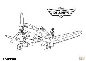 planes coloring pages disney planes skipper coloring page free printable
