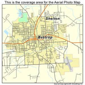 aerial photography map of bastrop la louisiana
