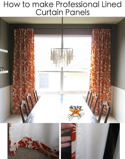 Lined Curtains Diy Inspiration Lined Curtains Flat Sheets And Curtain Tutorial On Pinterest