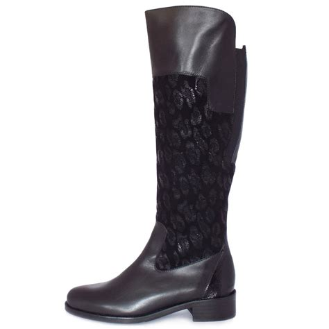 kaiser fiora fashion knee high boots in black mozimo