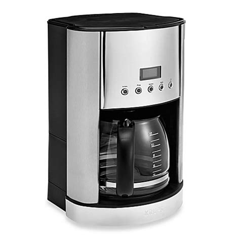 bed bath coffee maker krups 174 12 cup stainless steel coffee maker bed bath beyond