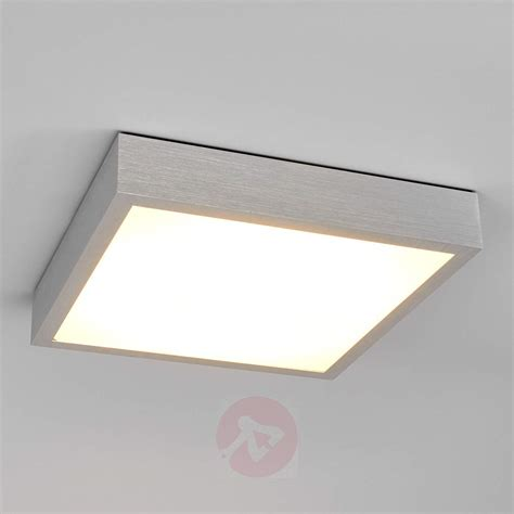 Led Ceiling Lights Uk Finnian Square Led Ceiling Light Aluminium Lights Co Uk