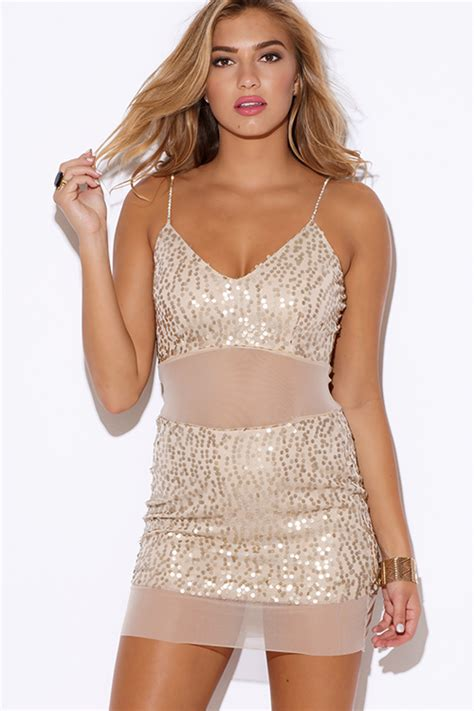 Sweety Gold Xl 26 shop gold sequined beige mesh rhinestone bejeweled