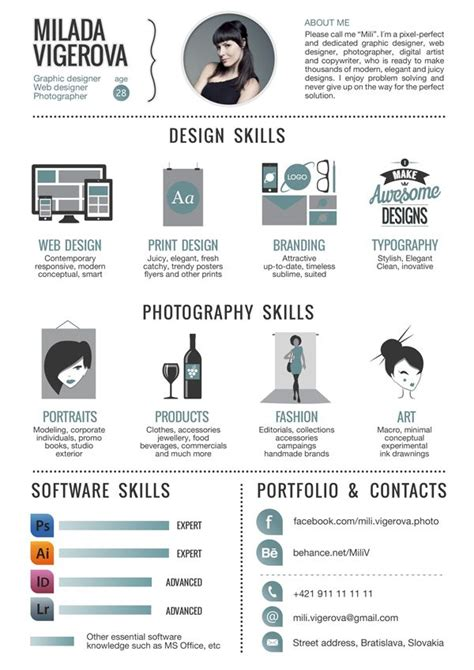 exles of creative graphic design resumes graphic design