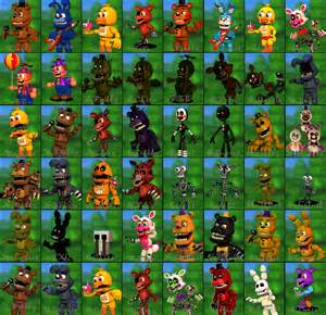 Fnaf world with my characters by angeloloy on deviantart